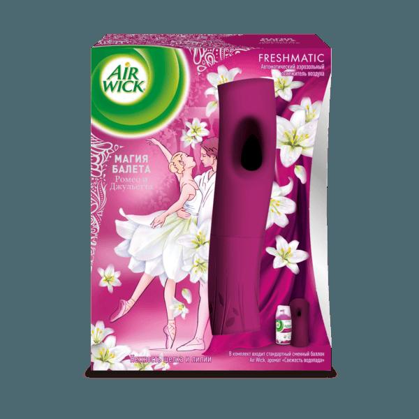 Автоматический освежитель воздуха Air Wick® Freshmatic Нежность шелка и лилии 250 мл