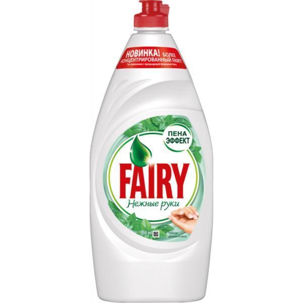 """Средство для мытья посуды Fairy """"Нежные руки. Чайное дерево и мята"""", 900 мл"""