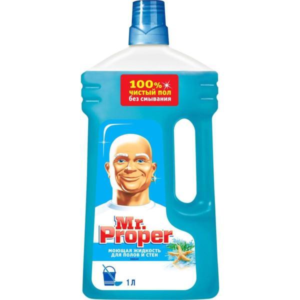 """Жидкость моющая для полов и стен """"Mr. Proper"""", океанская свежесть, 1 л"""