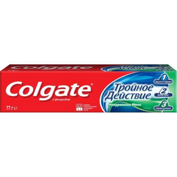 """Комплексная зубная паста Colgate """"Тройное действие. Натуральная мята"""", 50 мл"""