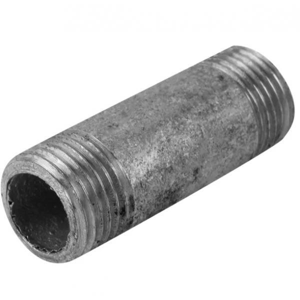 """Фитинг резьбовой, оцинкованный, наружняя резьба, 1/2""""х60 мм, сталь"""