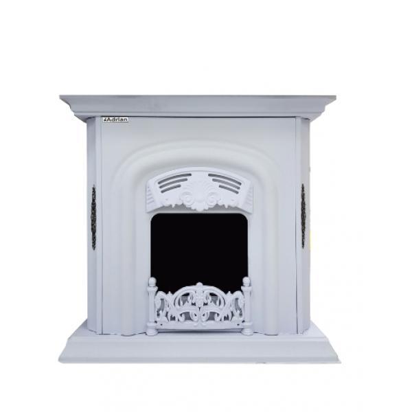 Газовый камин Adrian (30000) декор белый (120кв)