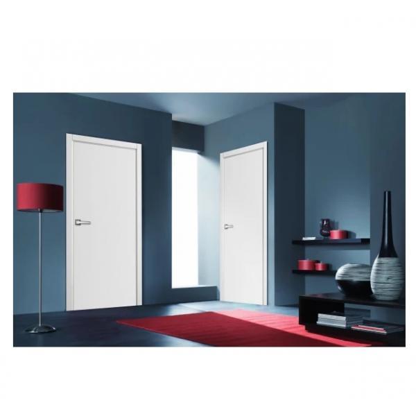 Дверь межкомнатная глухая с замком и петлями в комплекте 80x200 см эмаль цвет белый
